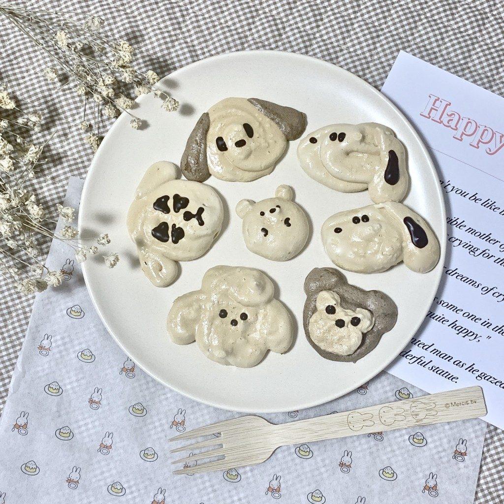 クッキー メレンゲクッキー 卵白 簡単 レシピ 作り方 犬 キャラクター 可愛い オーブン 60分