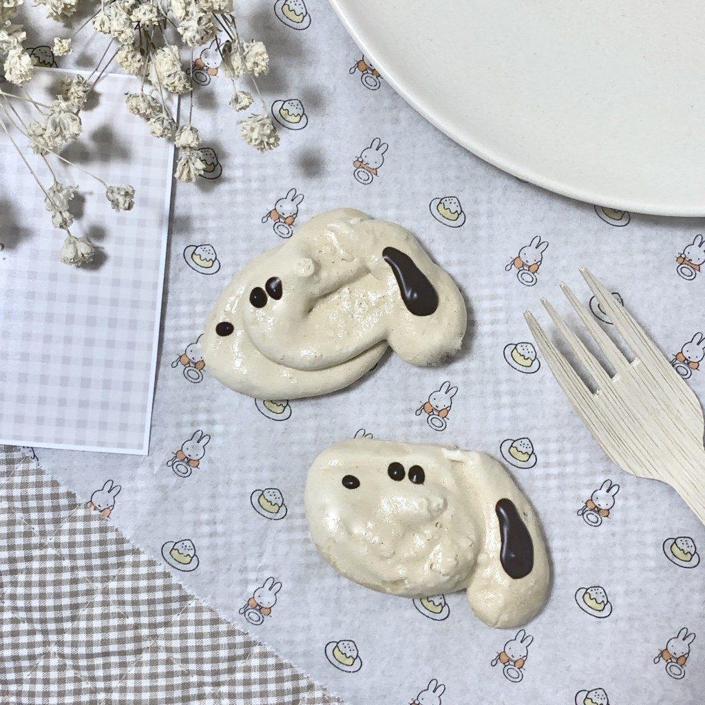 クッキー メレンゲクッキー 卵白 簡単 レシピ 作り方 犬 キャラクター 可愛い