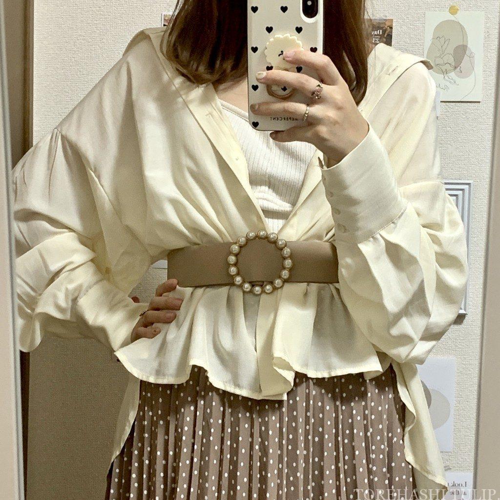 シアーシャツ シャツ コーデ 着こなし 春 夏 トレンド インナー スカート パンツ おすすめ バルト コーデ