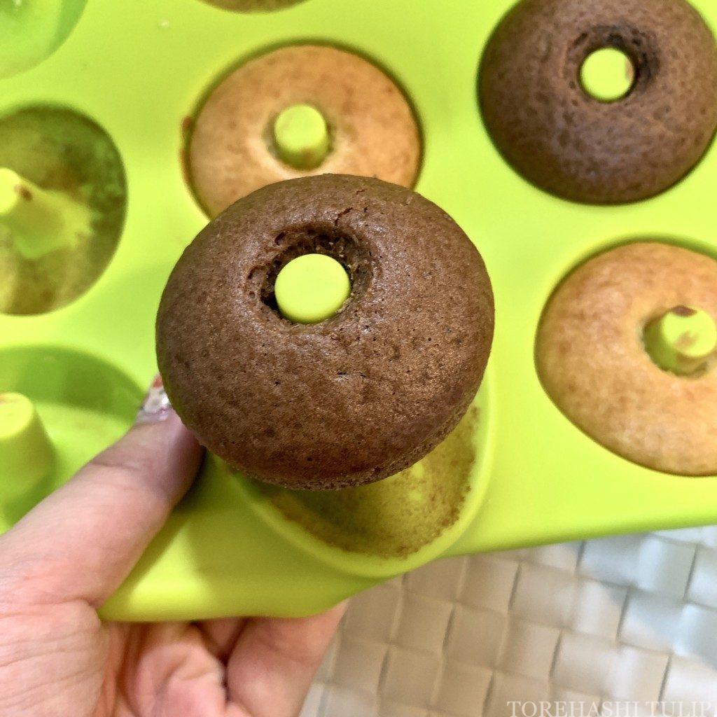 ベイクドドーナツ 揚げない ドーナツ ヘルシー おうちカフェ レシピ 作り方 簡単 ホットケーキミックス 型から外す