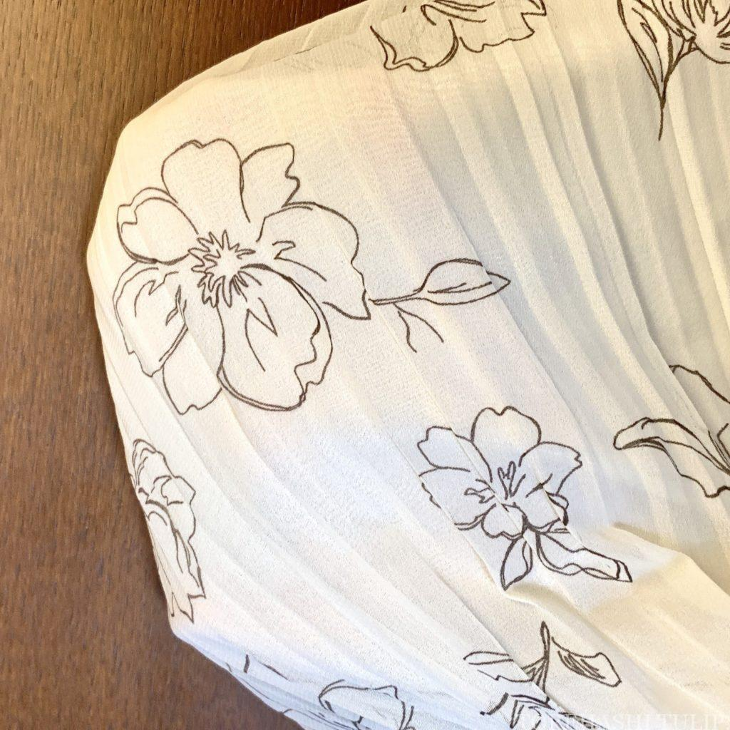 Honeys ハニーズ 2020ss 花柄ロングスカート 大人っぽい 上品 着まわしコーデ 優秀 透け感