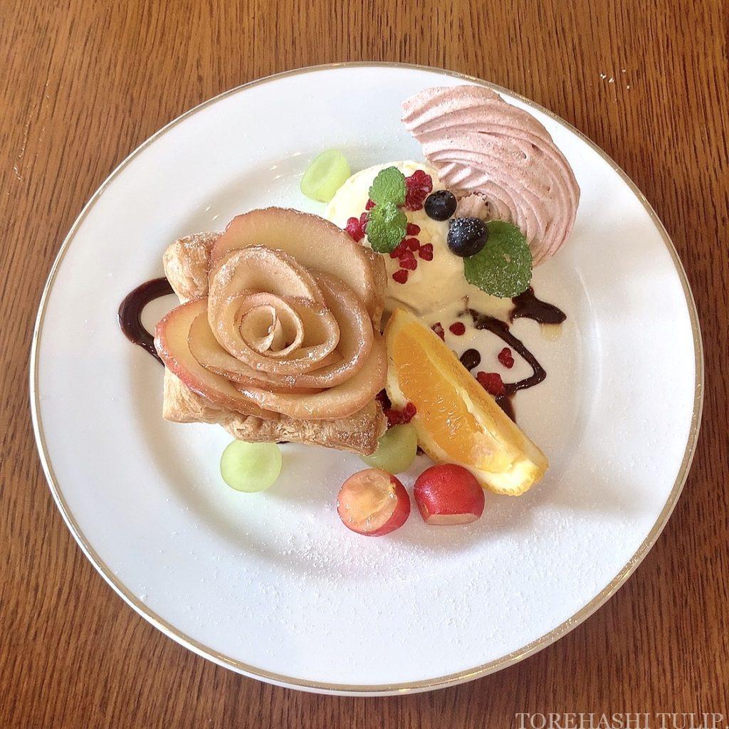 三軒茶屋カフェ 下馬 マジョレルカフェ アンティークギャラリー・マジョレル 自家製プリン レトロカフェ 東京カフェ メニュー レビュー アップルパイアラモード