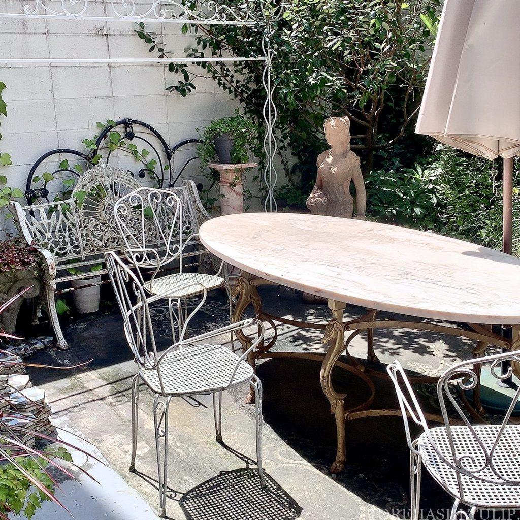 三軒茶屋カフェ 下馬 マジョレルカフェ アンティークギャラリー・マジョレル 自家製プリン レトロカフェ 東京カフェ メニュー テラス席