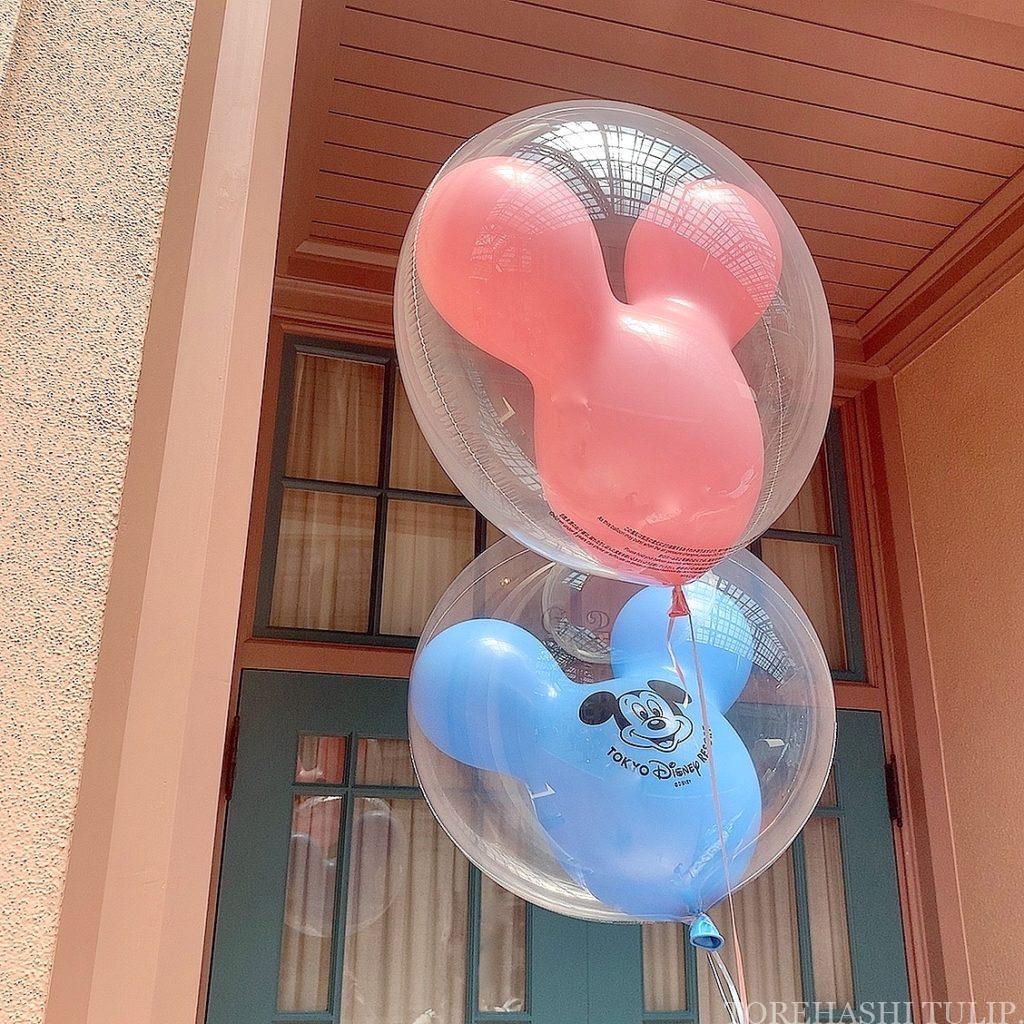 ミッキーバルーン 風船ディズニー ディズニーランド 再開後 バウンドコーデ インスタ映え 写真スポット ポーズ