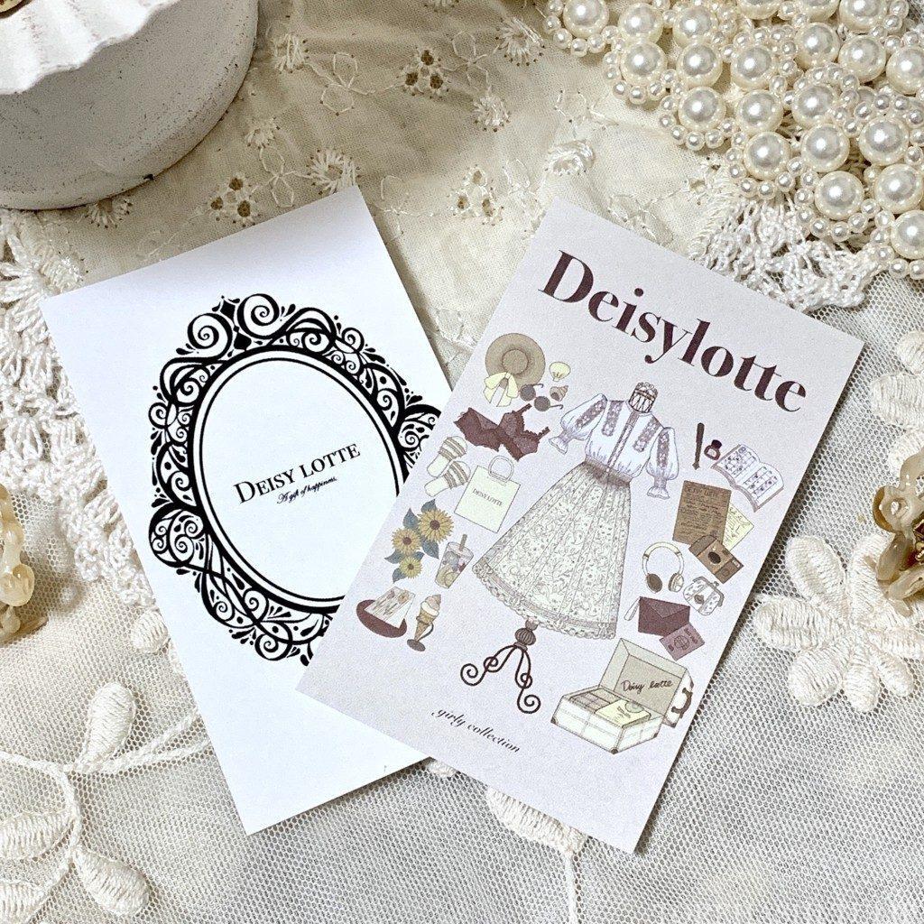 デイジーローテ Deisy lotte インスタグラマー めぐみるく プロデュースブランド ベルト パールレザーベルト レースクリアベルト ファッションカード