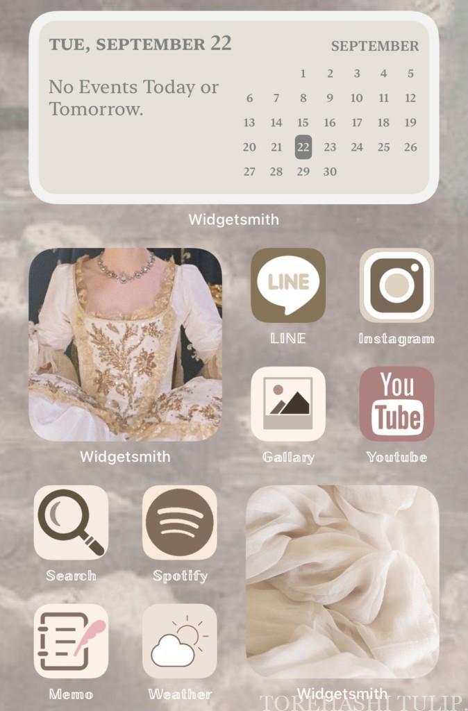iPhone IOS14 ホーム画面 カスタム ウィジェット Widgetsmith ウィジェットスミス アプリ カレンダー 時計 おしゃれ かわいい 使い方
