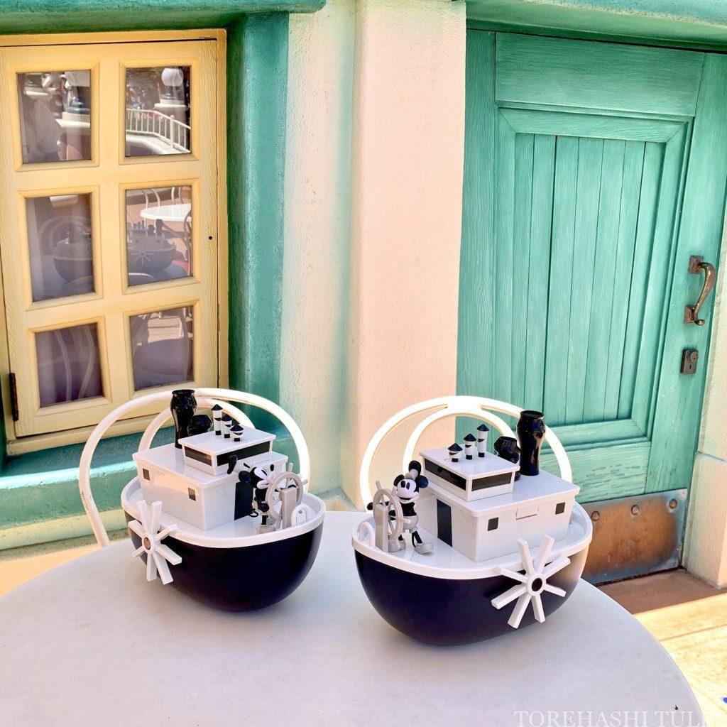 ポップコーンバケット ディズニー 蒸気船ウィリー インスタ映え スポット 撮り方 置き画 かわいい