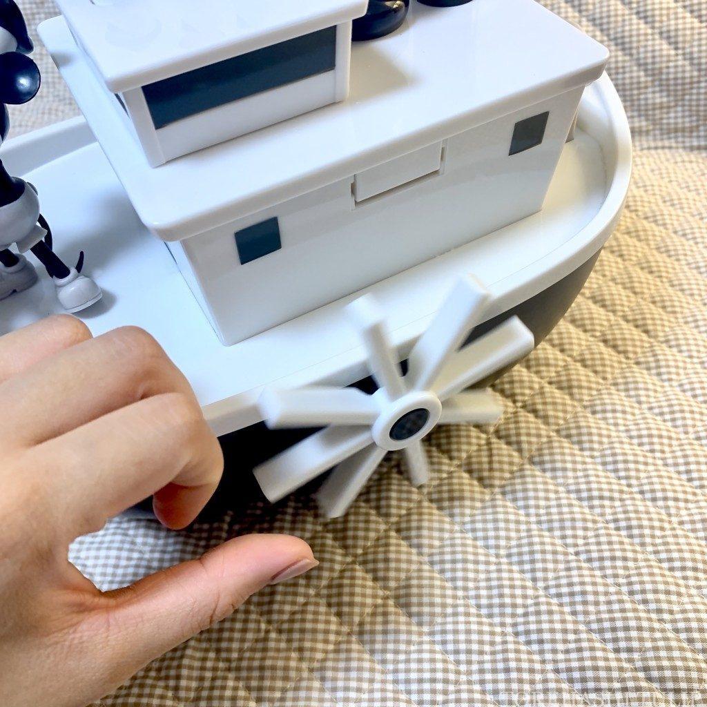 ポップコーンバケット ディズニー 蒸気船ウィリー 開け方 機能 仕掛け 音がなる 回せる インスタ映え