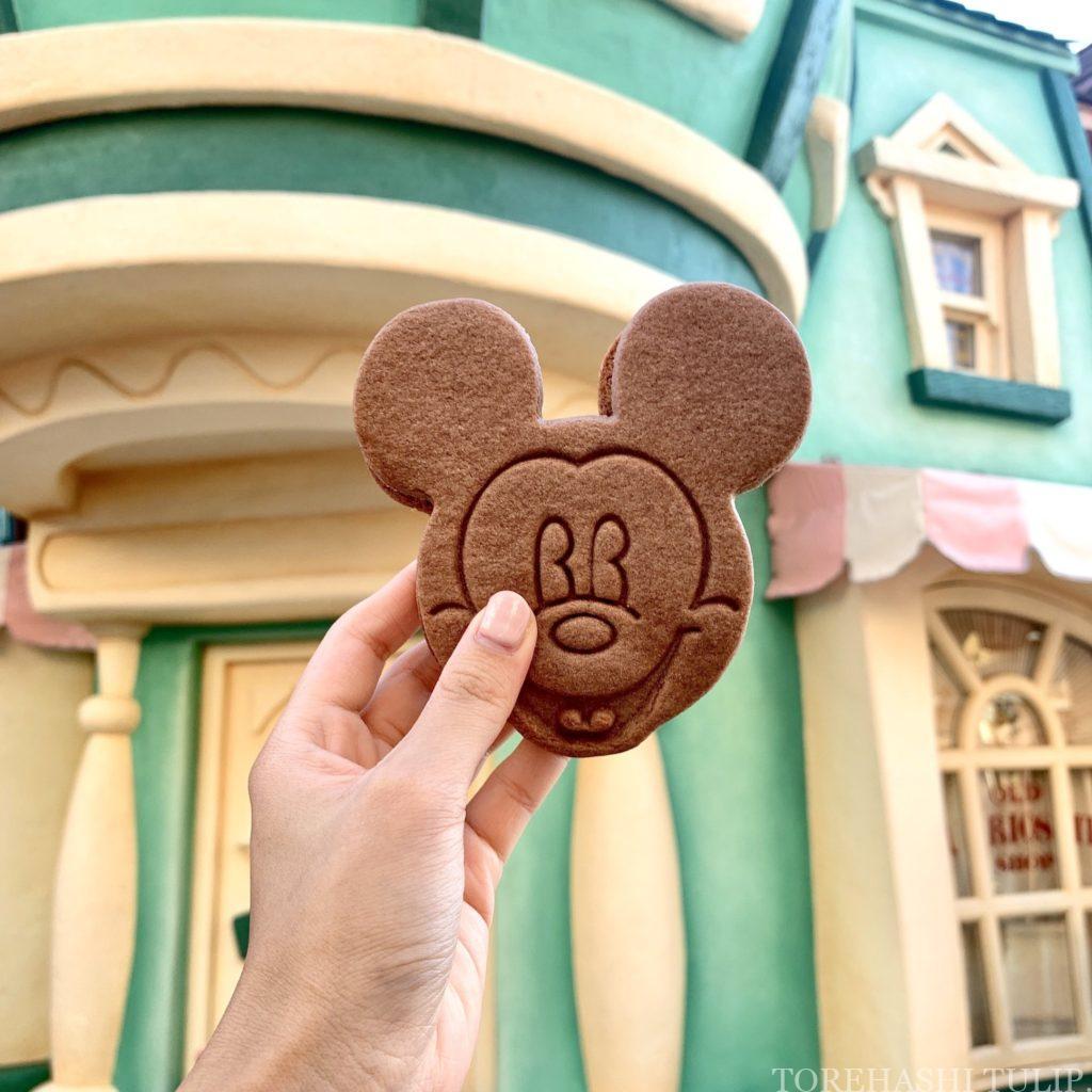 夏 2020 ディズニーランド ディズニーシー ひんやりスイーツ アイスクリーム ディズニーランド限定 ミッキー・クッキーサンドアイス インスタ映え