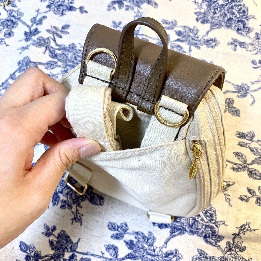 ダッフィー&フレンズ キャリーミー・ポシェット オールウェイズスマイル・ウィズ・ダッフィー&フレンズ リュック レビュー 販売終了 自分用ポシェット 肩ひもしまうポケット