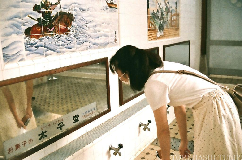 江戸東京たてもの園 千と千尋の神隠し ジブリ映画 聖地巡礼 女子旅 ポートレート インスタ映え 子宝湯 湯婆婆 油屋