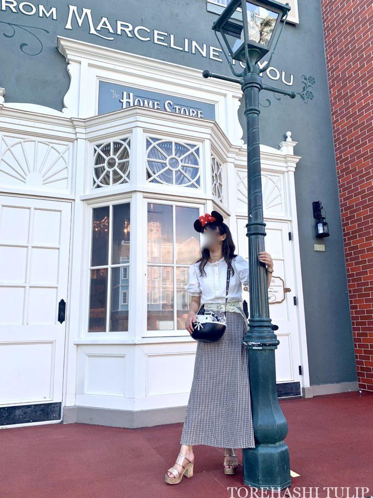 ディズニーランド ホームストア ワールドバザール 写真スポット インスタ映えスポット グレーの壁