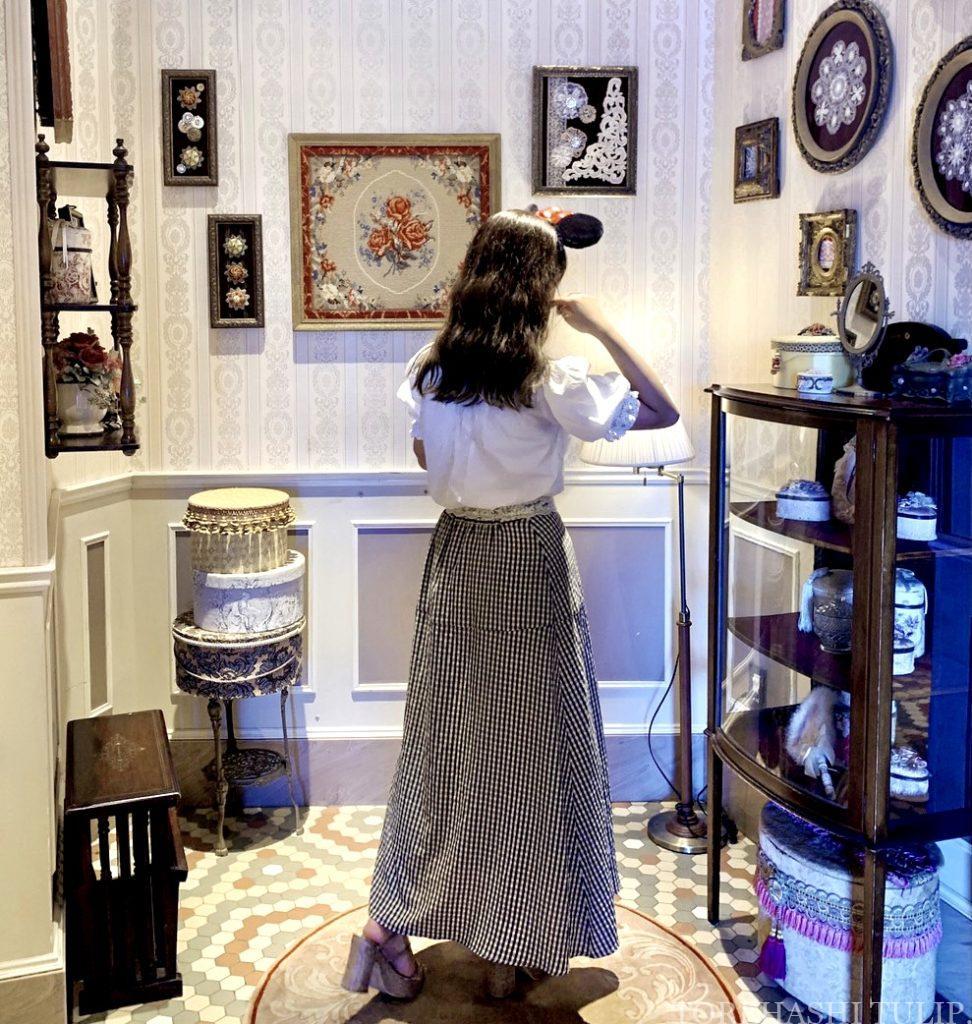 ディズニーランド ホームストア ワールドバザール 写真スポット インスタ映えスポット アンティーク 店内写真スペース