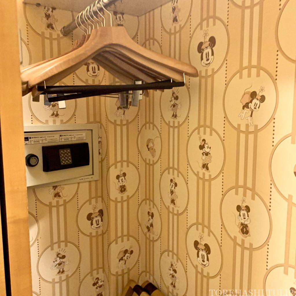 ディズニーアンバサダーホテル アンバサダーフロア ミニーマウスルーム お部屋 ルームツアー GoToトラベル レビュー 玄関周り クローゼット
