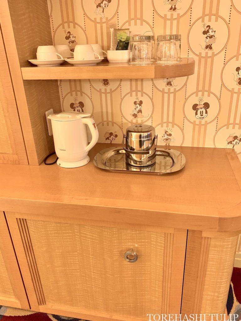 ディズニーアンバサダーホテル アンバサダーフロア ミニーマウスルーム お部屋 ルームツアー GoToトラベル レビュー 玄関周り 冷蔵庫 お茶周り