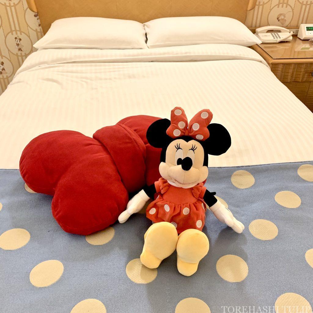 ディズニーアンバサダーホテル ディズニーホテル アンバサダーフロア ミニーマウスルーム アメニティー 無料 貰えるもの紹介 キャラクタールーム