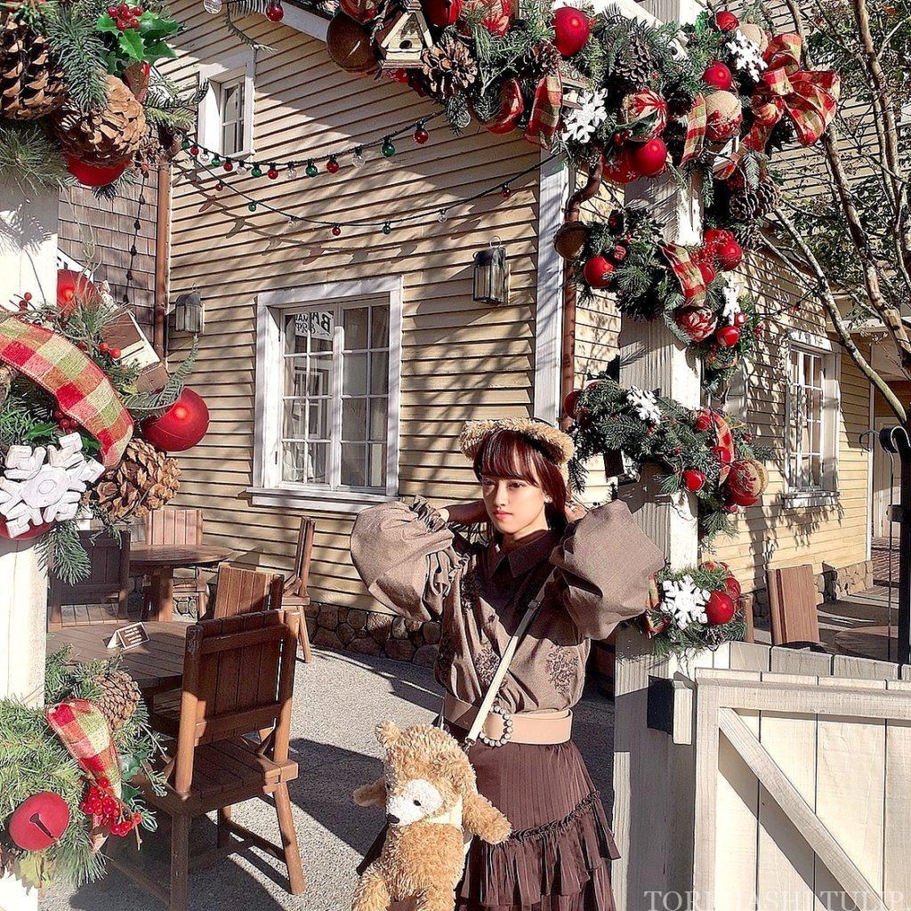 ディズニーシー アメリカンウォーターフロント  ディズニークリスマス クリスマス装飾 インスタ映えスポット 写真ポーズ ダッフィーバウンド ケープコッド・クックオフ