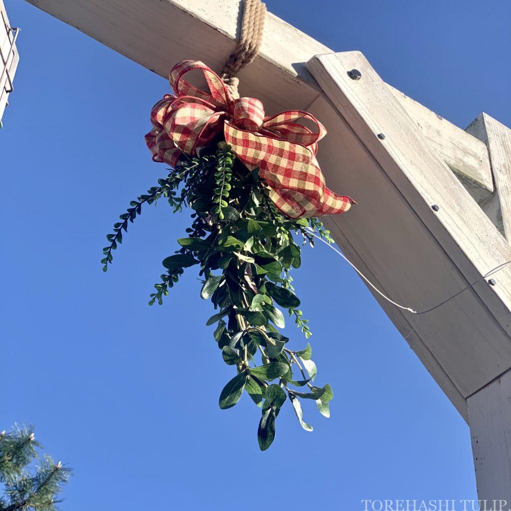 ディズニーシー アメリカンウォーターフロント  ディズニークリスマス クリスマス装飾 インスタ映えスポット 写真ポーズ ヤドリギ