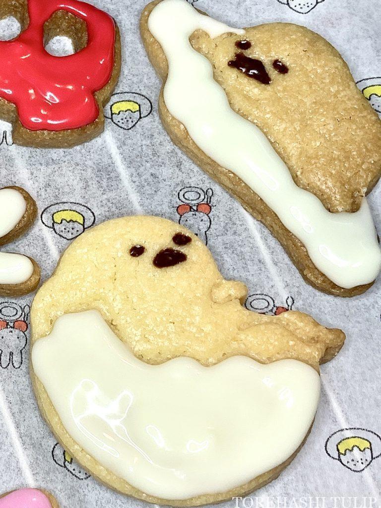 キャラクタークッキー 型抜きクッキー メレンゲクッキー 100均 ダイソー セリア 簡単 作り方 レシピ アイシング チョコペン ぐでたま サンリオ 抜き型