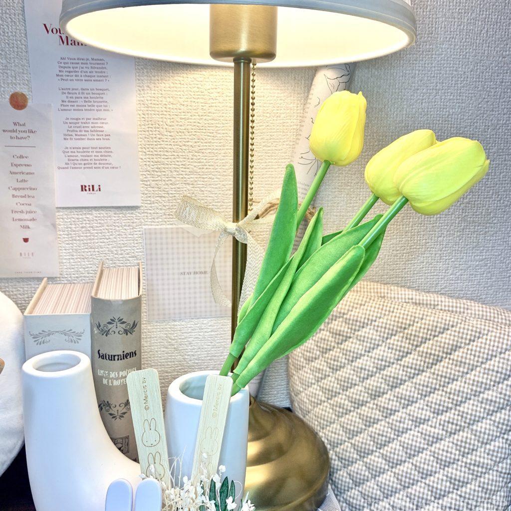 チューリップ 造花 生花 インテリア 韓国雑貨 韓国 模様替え 通販 お店 飾り方
