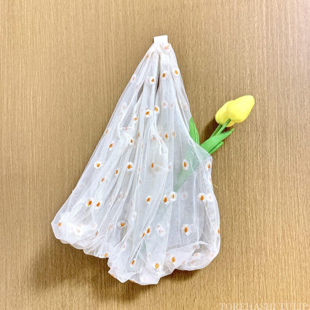 3COINS スリーコインズ 花のある生活 韓国風 インテリア ASOKO アソコ femfemfem マーガレットフラワー刺繍エコバッグ
