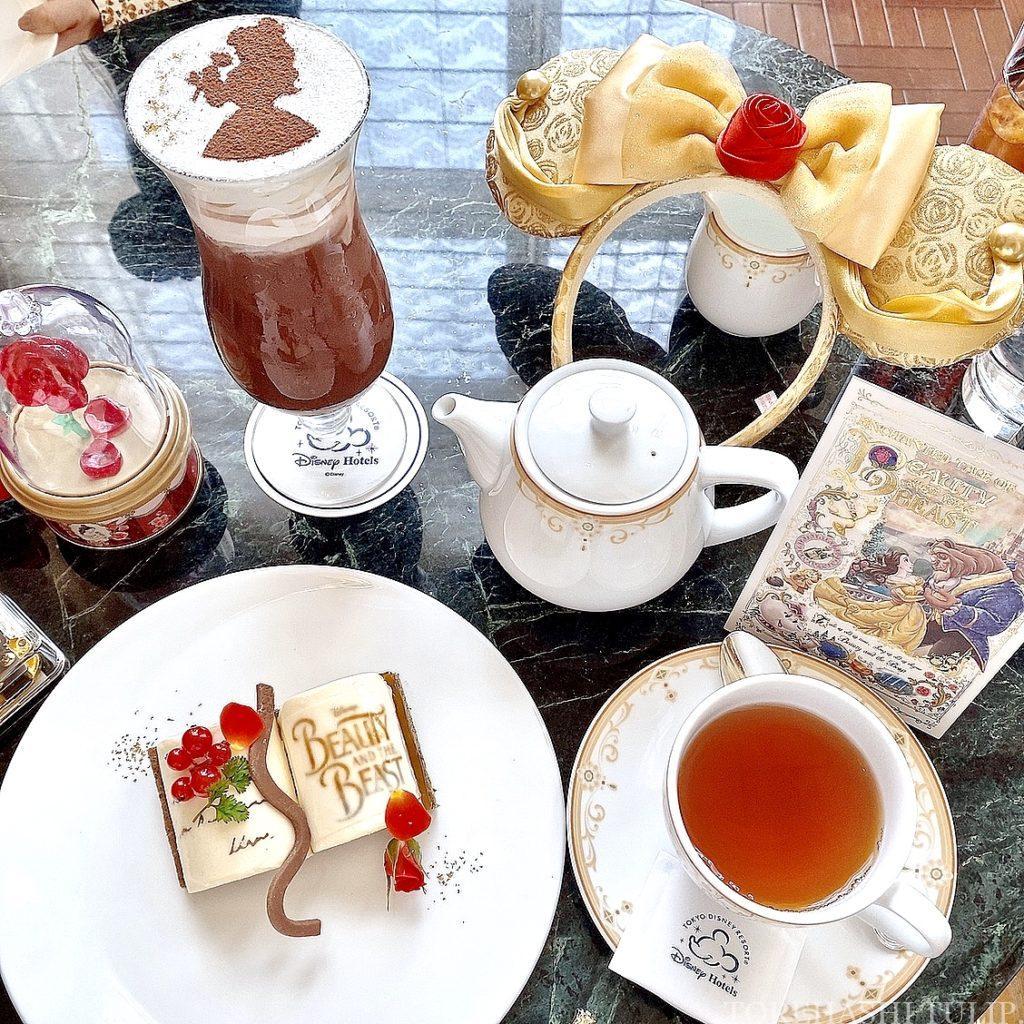 東京ディズニーランドホテル ドリーマーズ・ラウンジ プリンセスケーキセット 美女と野獣ケーキ ベルのケーキ 予約なし 味