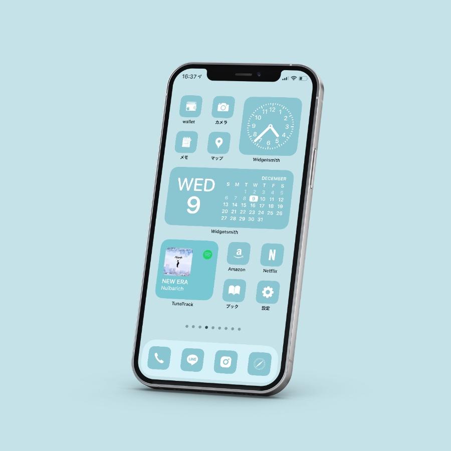 AZ-icon アプリアイコン素材 アイコンパック ホーム画面カスタマイズ おしゃれ 簡単 かわいい 統一感 プチプラ パステルアイコン 単品 バブル 水色