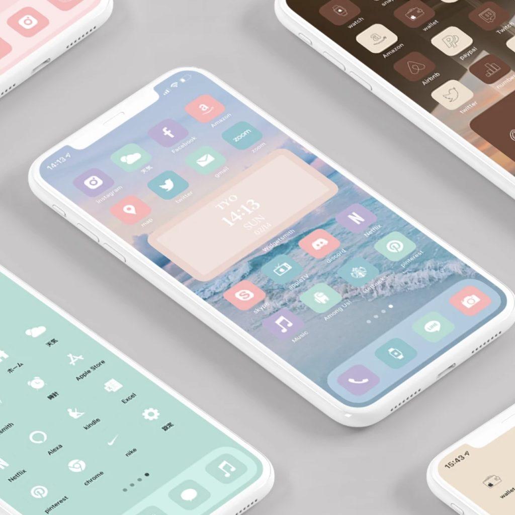 AZ-icon アプリアイコン素材 アイコンパック ホーム画面カスタマイズ おしゃれ 簡単 かわいい 統一感 プチプラ
