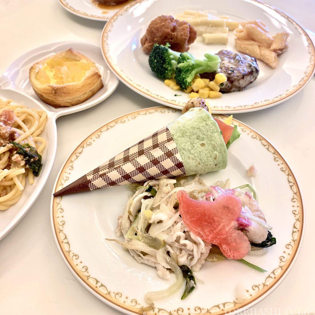 ディズニーランドホテル シャーウッドガーデン・レストラン ランチブッフェ 2021 メニュー 事前予約 時間制限なし ウィンターブッフェ コロナ 前菜 サラダ