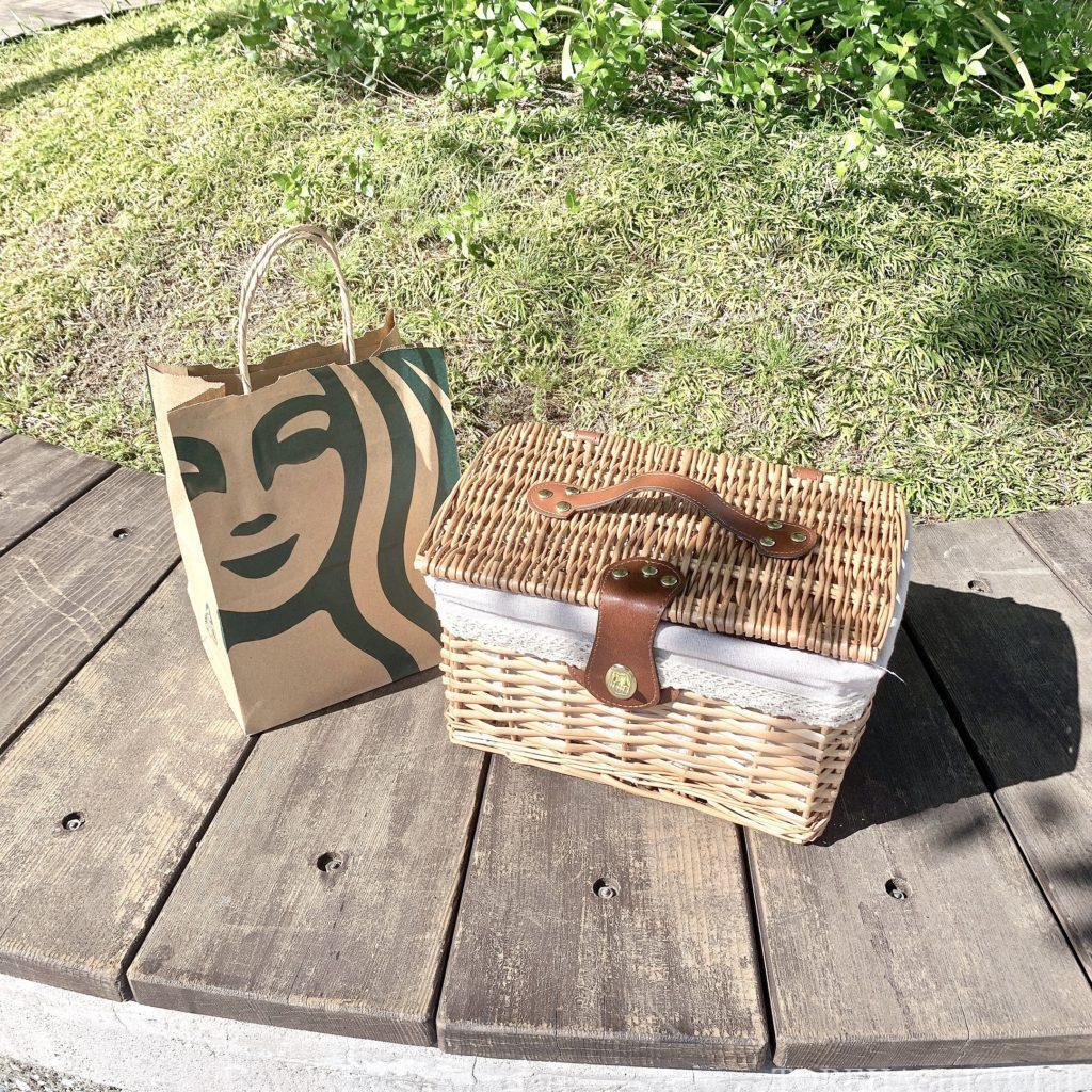 おしゃピク ピクニック おしゃれ 基本とコツ 100均 布 無印良品 ランチ箱 プチプラ 初心者 食べ物 持ち物 かごバッグ カゴバッグ