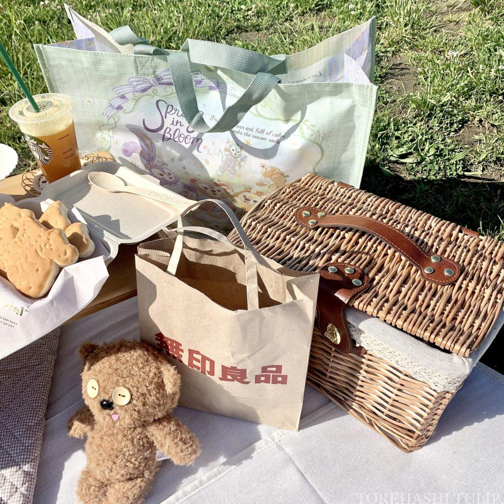 おしゃピク ピクニック おしゃれ 基本とコツ 100均 布 ランチ箱 プチプラ 初心者 食べ物 お店で買う 無印良品 飲み物