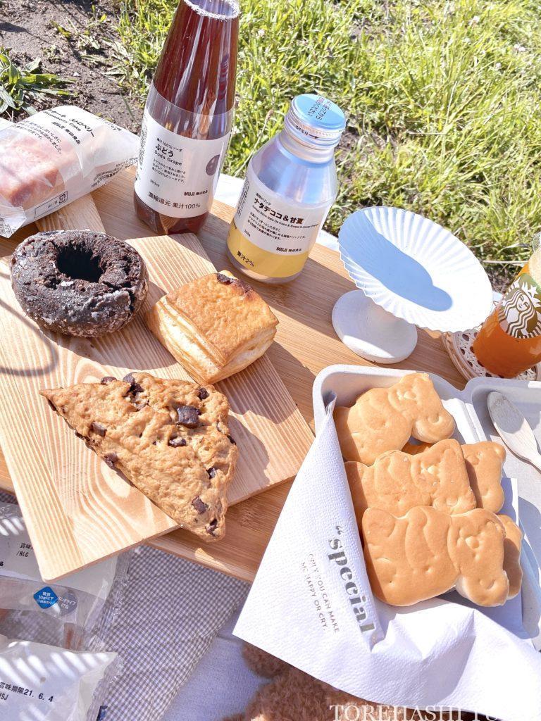 おしゃピク ピクニック おしゃれ 基本とコツ 100均 布 無印良品 ランチ箱 プチプラ 初心者 食べ物 お店で買う
