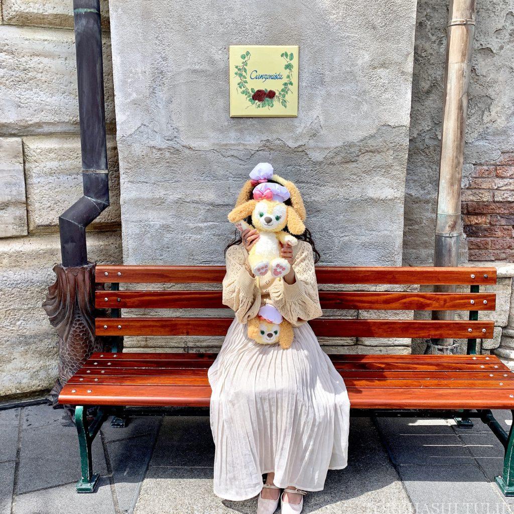 ディズニーシー ダッフィー&フレンズ バウンドコーデ 双子コーデ シミラールック クッキーアン ダッフィー シェリーメイ コーデ 春夏 メディテレーニアンハーバー インスタ映え フォトスポット