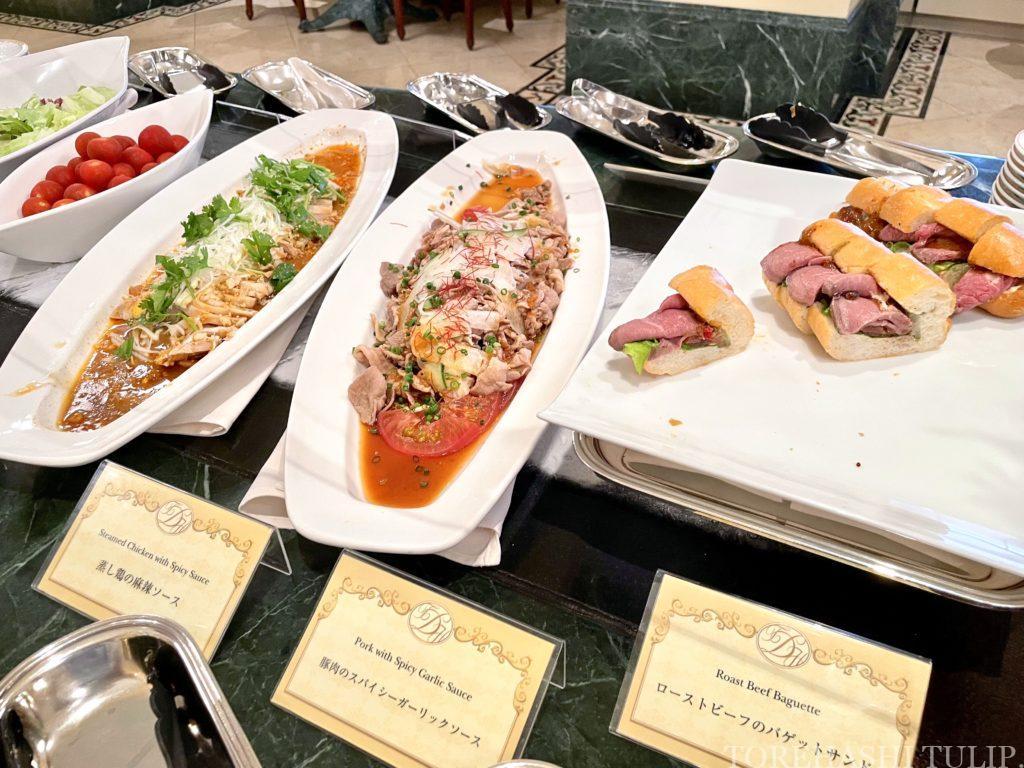 ディズニーランドホテル シャーウッドガーデン・レストラン 七夕 ランチブッフェ 2021年 メニュー 前菜 サラダ