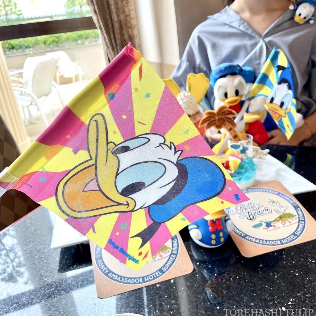 ディズニーアンバサダーホテル ハイピリオンラウンジ ケーキセット 2021年夏 ドナルドダック メニュー ブログ 事前予約 ブログ