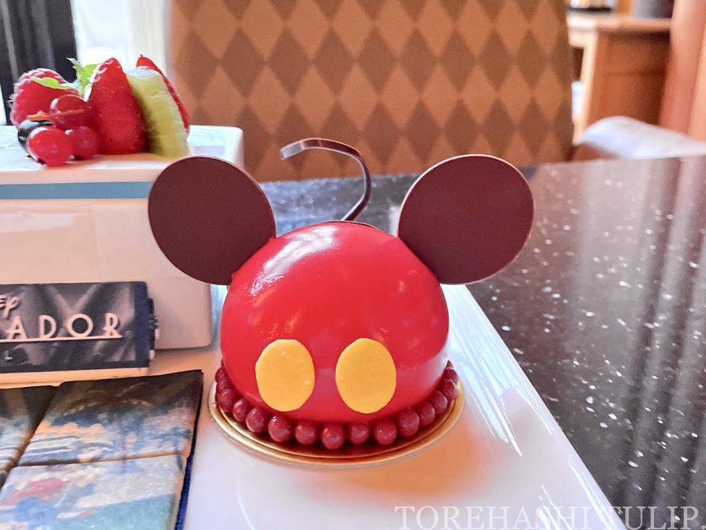 ディズニー アンバサダーホテル ハイピリオン・ラウンジ ファンデコデザート ケーキセット レビューブログ 予約 組み立てる