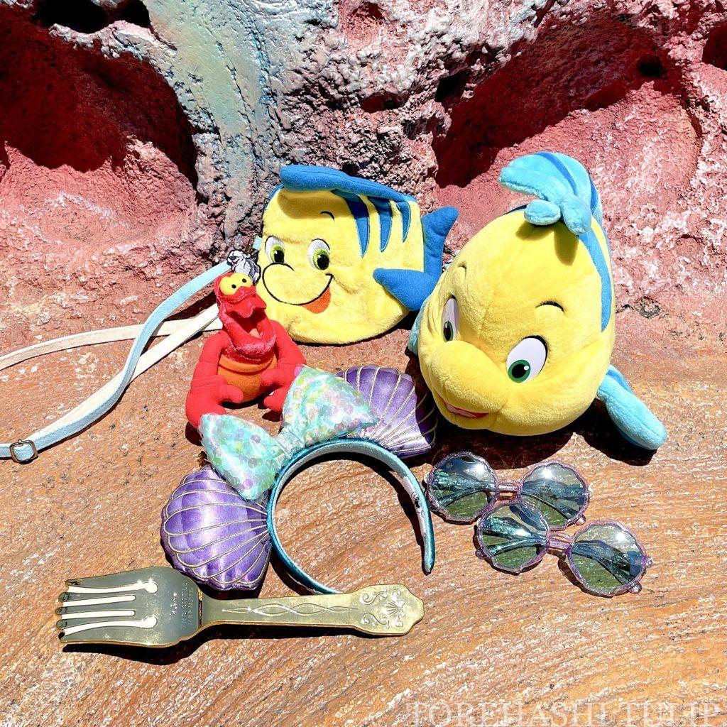 ディズニーシー アリエルカチューシャ アリエルグッズ アリエルバウンドコーデ 夏コーデ マーメイドラグーン 写真スポット GRL プチプラ