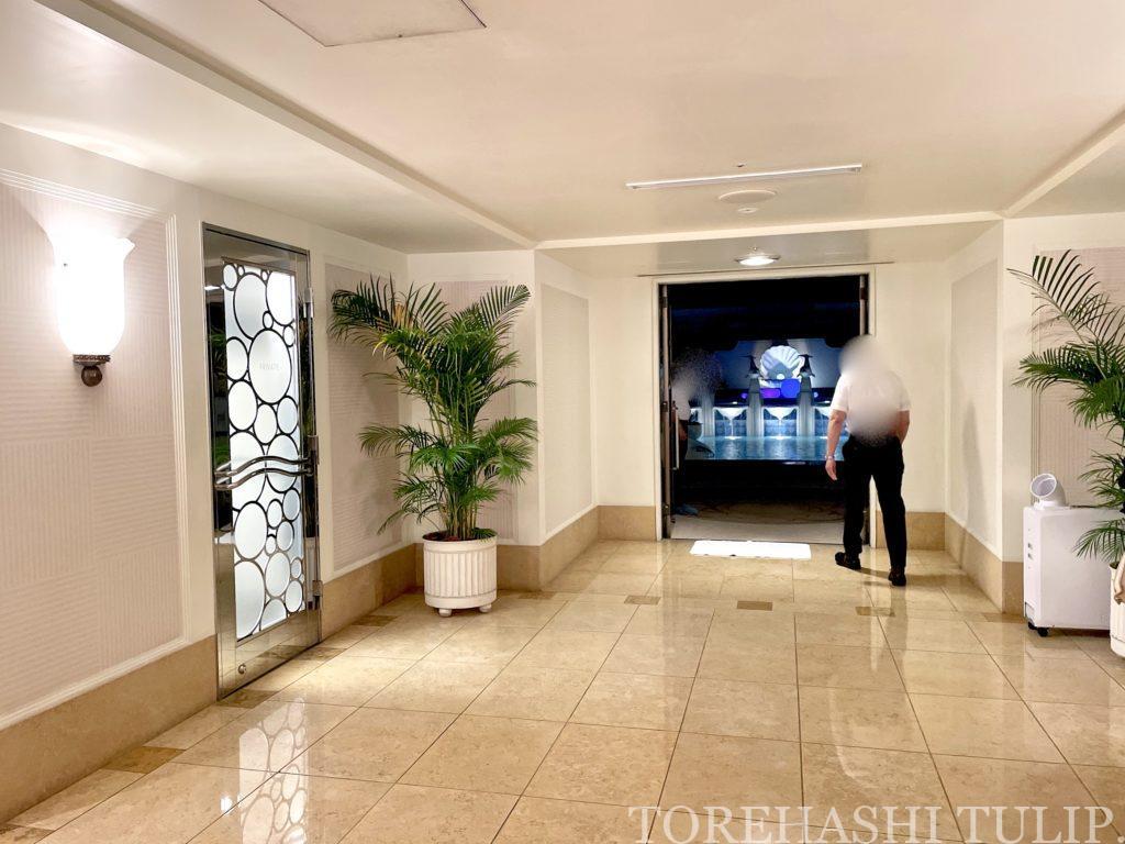 ディズニーホテル アンバサダーホテル パームガーデンプール ナイトプール 軽食メニュー インスタ映え レポ 2021年夏 チケット売り切れ キャスト 写真撮影 インスタ映えスポット ライト演出 感染症対策 マスク 更衣室