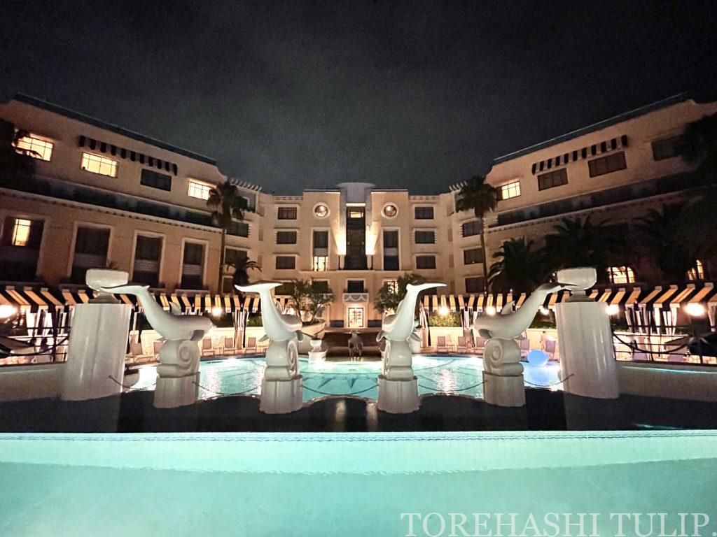 ディズニーホテル アンバサダーホテル パームガーデンプール ナイトプール 軽食メニュー インスタ映え レポ 2021年夏 チケット売り切れ