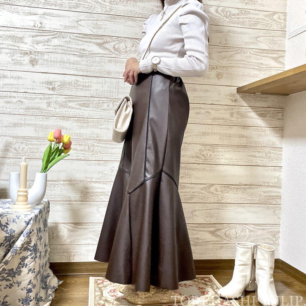 GRL グレイル 通販サイト プチプラ 高見え 2021AW 秋冬 購入品紹介 トレンド 着回しコーデ ブーツ ニット レザースカート セットアップ 大人コーデ