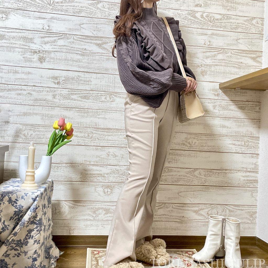 GRL グレイル 通販サイト プチプラ 高見え 2021AW 秋冬 購入品紹介 トレンド 着回しコーデ ブーツ ニット レザースカート セットアップ 大人コーデ ロングブーツ パンツスタイル